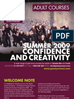 Adult Summer Brochure