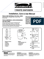 60572 Installation Guide Garbage Disposer