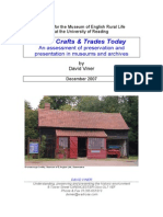 Rural Crafts and Trades Collections Today. Part One - The Report