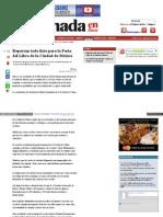 Reportan todo listo para la Feria del Libro de la Ciudad de México