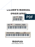 Manual for Midiplus Origin Series