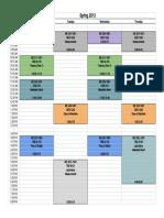 Spring 2013 Schedule
