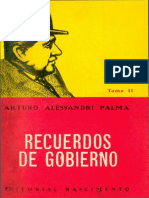 Recuerdos de Gobierno Alessandri Palma