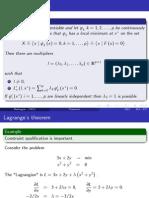 Lagrange Theorem