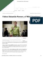 Fallece Sebastián Romero, el 'Milk Colombiano'