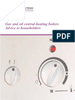 Gas and Oil Central-heating Boilers - Advice to Householders