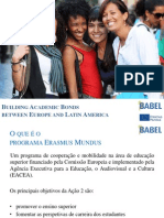 BABEL Project for Dissemination in LA 2nd Cohort PT UFMG