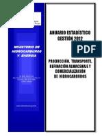 Anuario Boletin Estadistico Mhe 2012