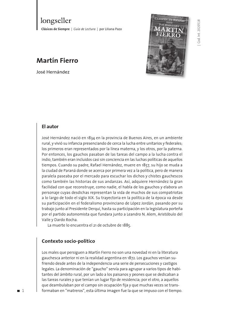 Martín Fierro (guía de lectura)