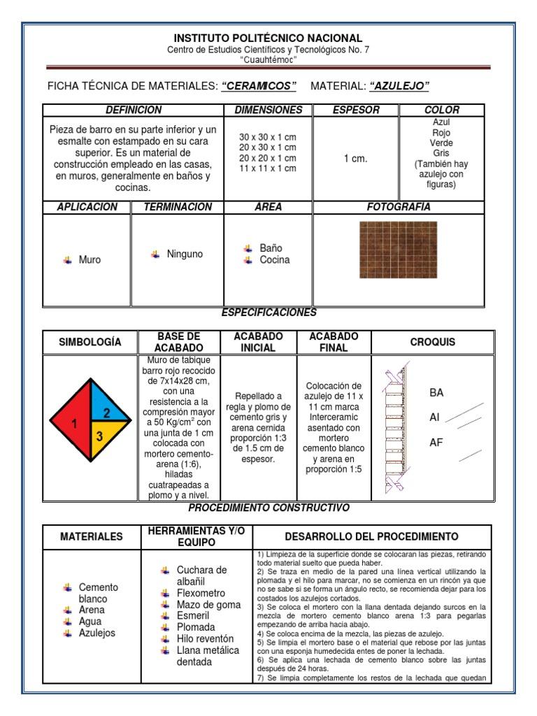 Ficha tecnica ceramicos for Muros verdes definicion