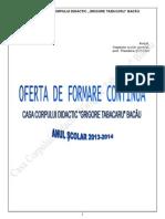 Oferta Formare 2013 2014
