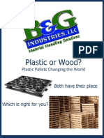B&G Plastic Pallet eBook; Plastic or Wood? Plastic Pallets Changing the World
