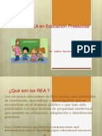Uso de los REA en Educación Preescolar