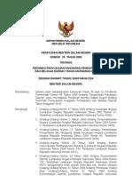 Permendagri No.25 Tahun 2009 Ttg.pedoman Peny.rapbD 2010