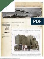 Uniforme U.S. Army en el Mediterráneo (finales de 1942)