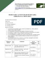 Educ Limbajului-proiectarea Activitatilor