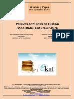 Políticas Anti-Crisis en Euskadi. FISCALIDAD