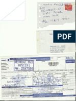 Registered AD & DTDC Courier Receipts