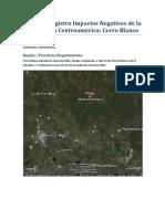 Impactos Cerro Blanco Guatemala