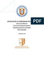 ESTATUTO COMUNIDAD ESTUDIANTIL