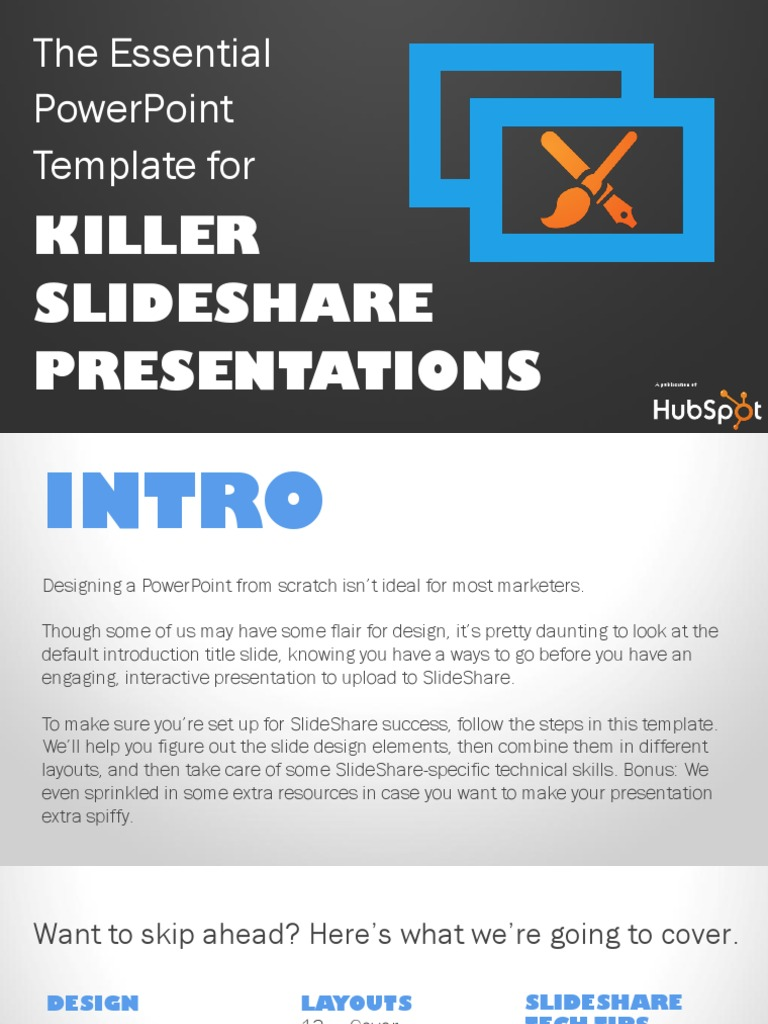 converion of powerpoint into slideshare presentation by hubspot