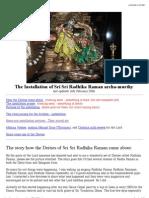 ion of Sri Sri Radhika Raman