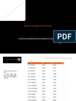 works copyright and prices brochure - 2013 bo