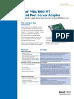 Pro1000mt Quad Port Server Adapter-DS