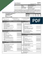 Report Card Kindergarten Sample
