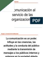 Comunicación al servicio de las organizaciones