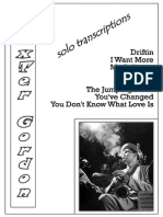 Dexter Gordon Solo Transcriptions