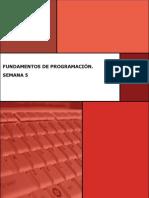 Fundamentos de Programación Semana 5 Manual