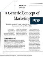 2. a Generic Concept of Marketing
