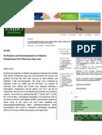 Purification and Characterization of Alkaline Phosphatse from Pleurotus sajor-caju