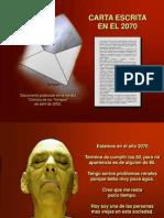 Carta escrita en el 2070.ppt