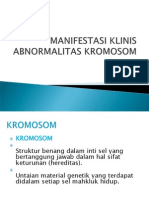 Manifestasi Klinis Abnormalitas Kromosom