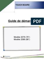 Guide de démarrage Touch board