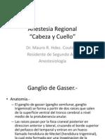 Anestesia Regional Cabeza y Cuello