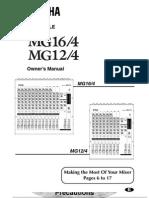 User manual Yamaha MG12/4