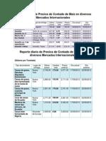 Reporte diario de Precios de Contado de Maíz en diversos Mercados Internacionales (Autoguardado)