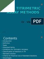 Titrimetry