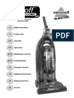 Bissell Lift-Off MultiCyclonic Pet HEPA Upright Vacuum 89Q9