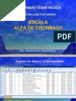 Escala Alfa de Cronbach