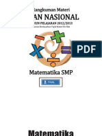Rangkuman Materi UN Matematika SMP Revised