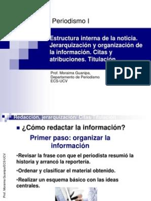 La Noticia Redacción Citas Titulación Información