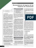 Reconocimiento de Ingresos de Las Empresas Constructoras