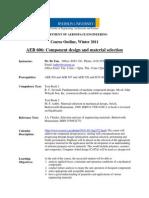 AER606 Outline W11dg