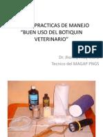 Buenas Practicas de Manejo Botiquin Veterinario