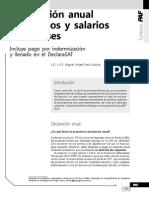 Declaracion Anual Sueldos y Salarios