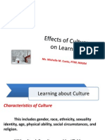 Chapter 5 Effects of Culture
